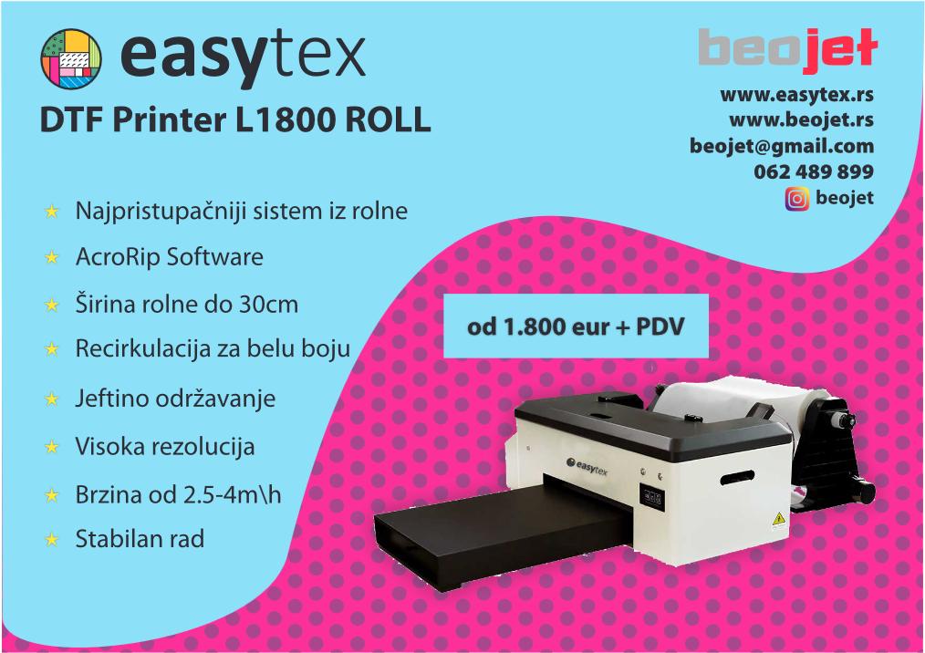 dtf printer iz rolne prodaja